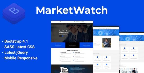 MarketWatch - Corporate Finance HTML Template - Business Corporate