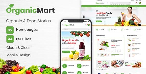 OrganicMart - Organic & Food PSD Template - Retail PSD Templates