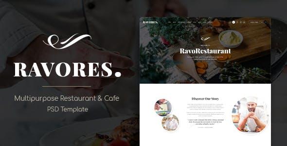 RavoRes - Multipurpose Restaurant & Cafe PSD Template