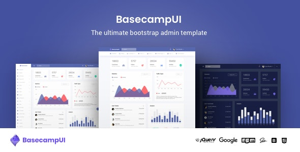 BasecampUI Bootstrap Admin Dashboard Template by urbanui
