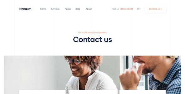 Nanum — A Digital & Marketing Agency Sketch Template