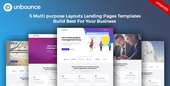 Masnoo - Multi-Purpose Template with Unbounce Page Builder - Unbounce Landing Pages Marketing