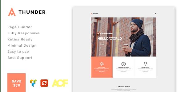 Thunder - Responsive Minimal Agency / Portfolio Theme - Creative WordPress