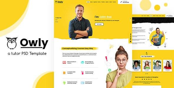 Owly | Tutor PSD Template - Miscellaneous PSD Templates