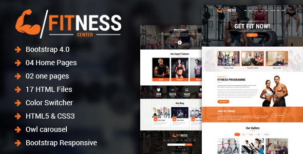Fitness Center – Gym, Yoga & Personal Trainer HTML Template - Health & Beauty Retail