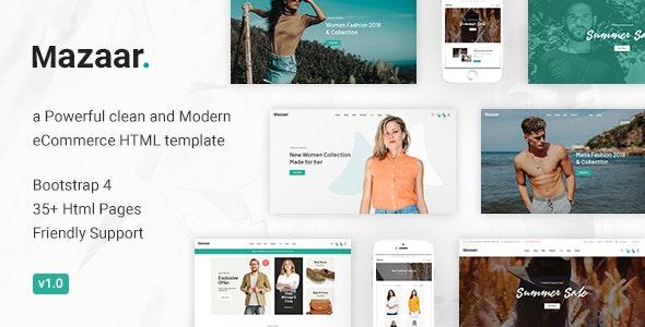 Mazaar - Responsive Ecommerce Html Template - Fashion Retail