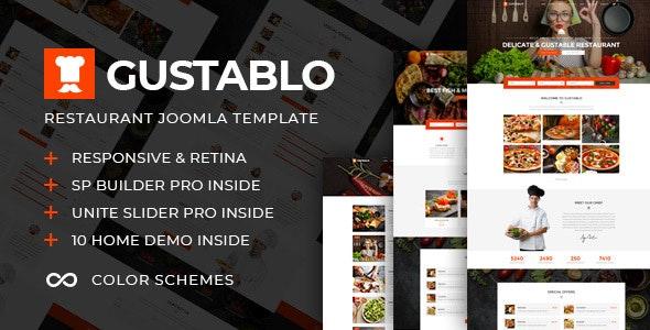 Gustablo | Restaurant & Cafe Responsive Joomla Template - Restaurants & Cafes Entertainment