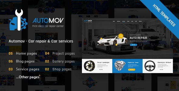 Automov - Car Repair, Auto Car Services HTML Template - Business Corporate