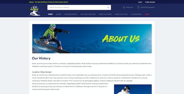 Alpinae - Winter Sports Shop PSD Template