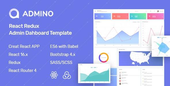 Admino - React Redux Admin Template - Admin Templates Site Templates