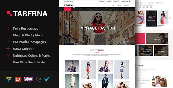 Taberna - Fashion & Electronic WooCommerce Theme - WooCommerce eCommerce