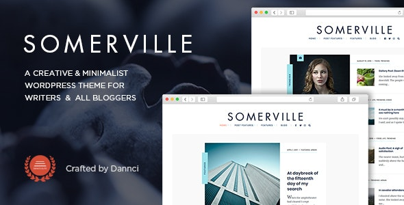 Somerville - Minimalist & Typography-First Theme for Writers - Personal Blog / Magazine