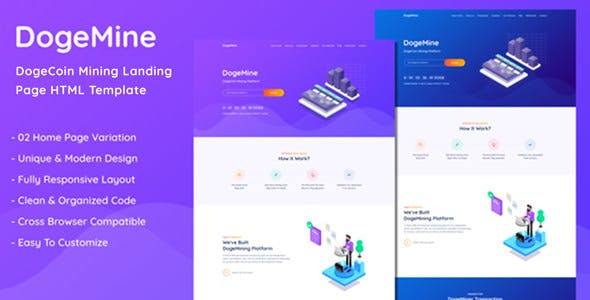 Crypto Miner Templates from ThemeForest