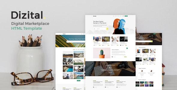 Dizital - Easy Digital Downloads HTML Template - Shopping Retail