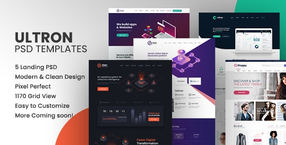 Ultron PSD Templates - Photoshop UI Templates