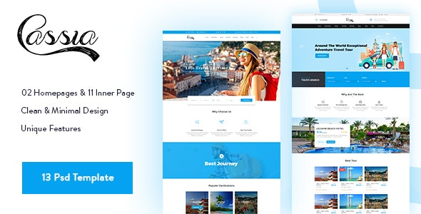Casia - Travel & Tours Psd Template - Travel Retail