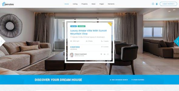 Penates - Premium Real Estates PSD Template