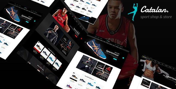 Catalan - Sports Clothing and Shoes Store PrestaShop 1.7 Theme