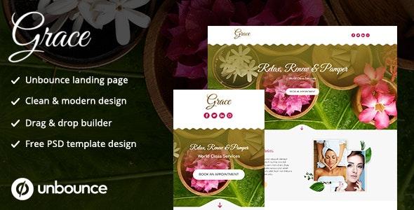 Unbounce Landing Page Template - Grace - Unbounce Landing Pages Marketing