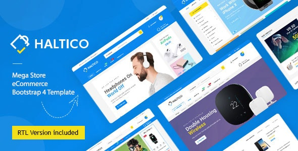 Haltico – Electronics Store HTML Template + RTL - Shopping Retail