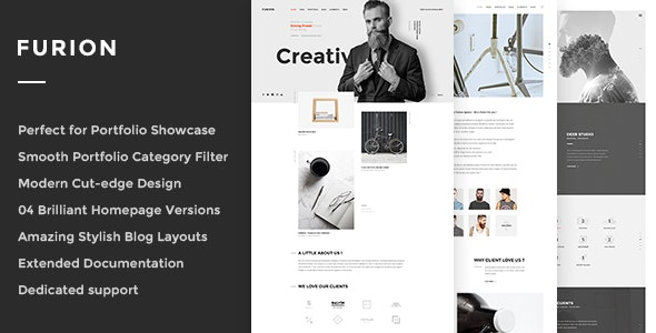 Furion - Creative Blog & Portfolio WordPress Theme - Portfolio Creative