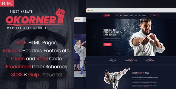 Okorner - Martial Arts Website Template - Health & Beauty Retail
