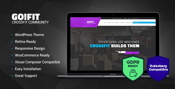 GoFit! | Fitness, Gym and Crossfit WordPress Theme - Health & Beauty Retail