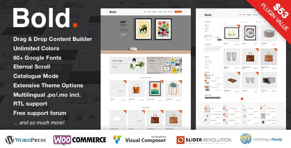Bold. - A responsive WordPress & WooCommerce Theme - WooCommerce eCommerce
