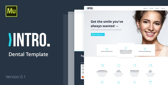 INTRO - Dental Care Template - Muse Templates