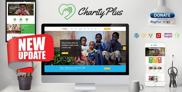 Charity Plus - Multipurpose Nonprofit WordPress Theme