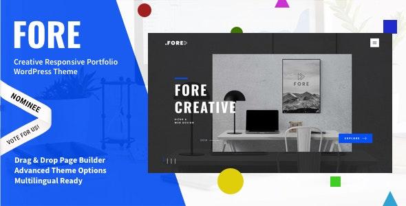 Fore - Fresh Concept WordPress Theme for Creatives - Portfolio Creative