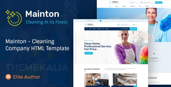 Mainton - Cleaning Company HTML Template - Business Corporate