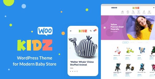 KIDZ - Baby Shop & Kids Store WordPress WooCommerce Theme - WooCommerce eCommerce