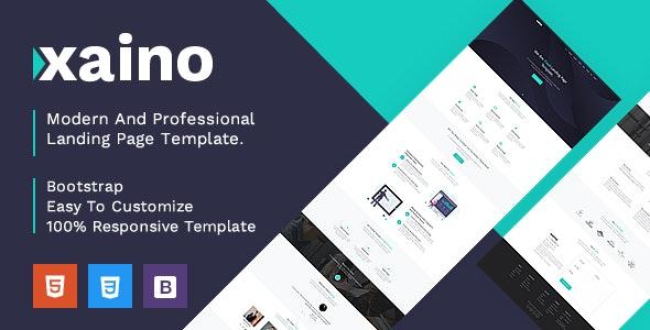 Xaino - Responsive Bootstrap 4 Landing Template - Landing Pages Marketing