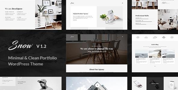 Snow | Minimal & Clean WordPress Portfolio Theme - Portfolio Creative