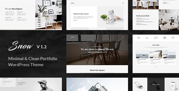 Snow | Minimal & Clean WordPress Portfolio Theme