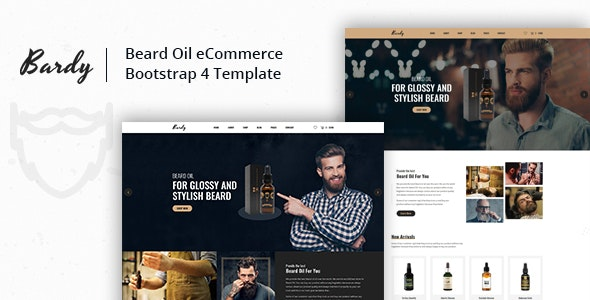 Bardy - Beard Oil eCommerce Bootstrap 4 Template - Fashion Retail