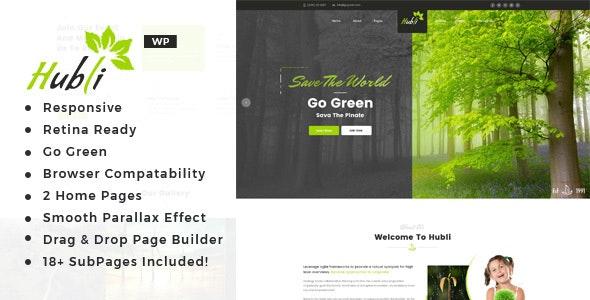 Hubli - Environment WordPress Theme - Environmental Nonprofit