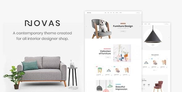 Novas | Furniture Store and Handmade Shop PSD Template - Shopping Retail