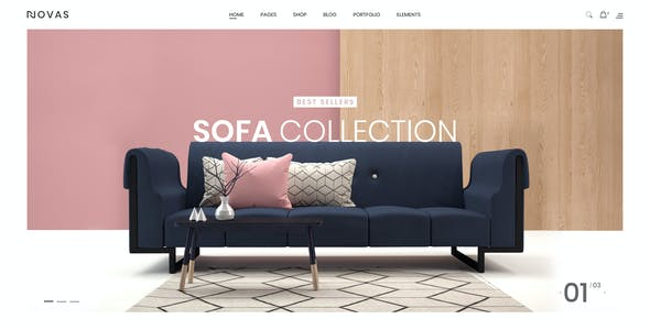 Novas | Furniture Store and Handmade Shop PSD Template