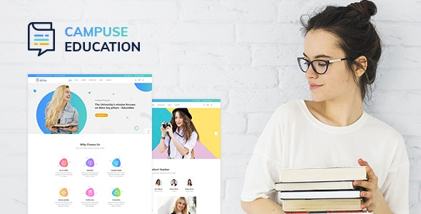 Campuse - University and Online Learning PSD Template - Business Corporate