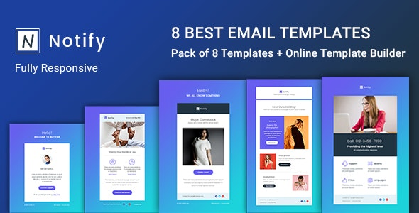 Notify - Notification Email  - Templates - Builder - Newsletters Email Templates