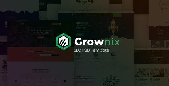Grownix - SEO, Marketing business PSD Template - Marketing Corporate