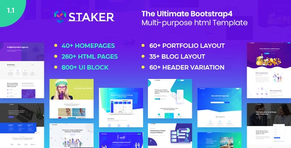 Staker - Multi-purpose HTML Template - Corporate Site Templates