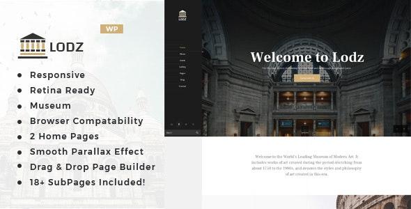 Lodz - Museum & Exhibition WordPress Theme - Nonprofit WordPress