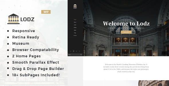 Lodz - Museum & Exhibition WordPress Theme