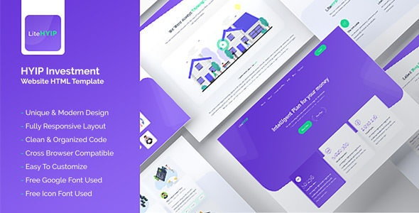 LiteHYIP - HYIP Investment Business Website HTML Template - Business Corporate