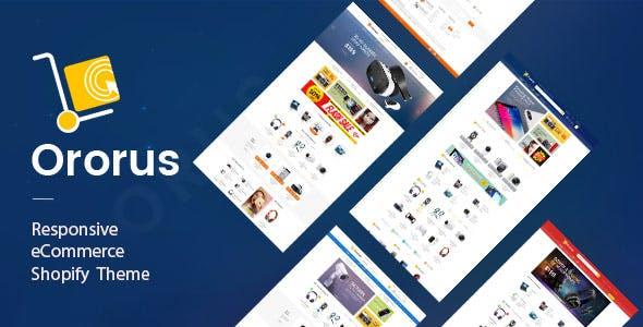 Ororus - Electronics Shopify Theme