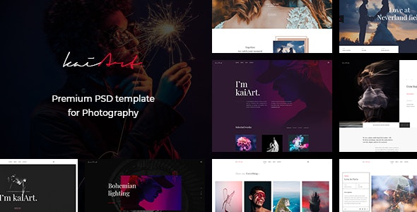 kaiArt - Premium PSD Template for Photography - Photography Creative