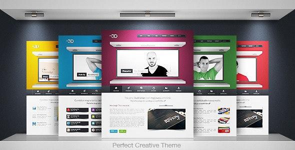 Idea 3D - Creative Portfolio Business - Creative Site Templates